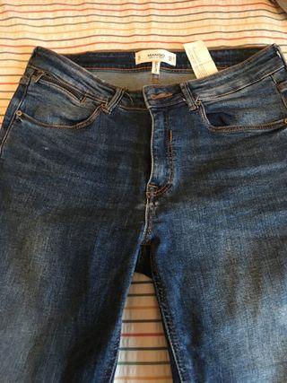 Pantalones vaqueros cremalleras