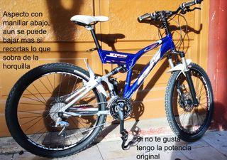 Bicicleta MTB BH X-TREM doble suspensión, talla M