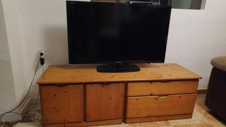 mueble salón madera de pino