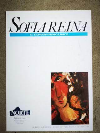 Cartel exposición de Sofia Reina en Oviedo 1988