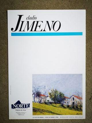 Cartel exposición de Eladio Jimeno en Oviedo 1988