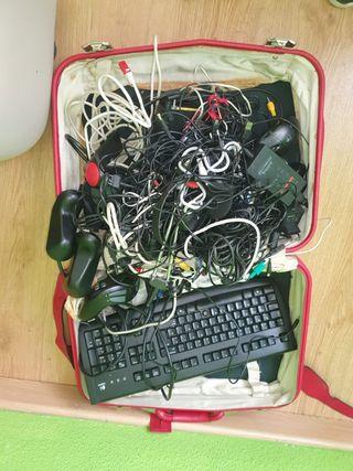 maleta vintage cableado informática