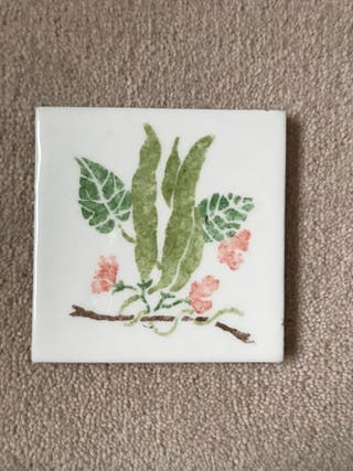X1 patterned China plaque
