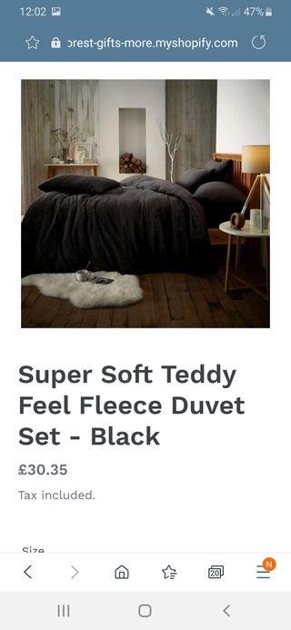 Teddy Fleece Bedding