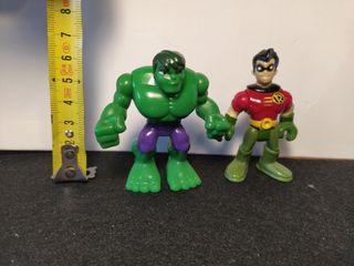 Hulk y Robin figuras
