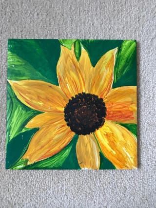 X1 Sunflower China plaque