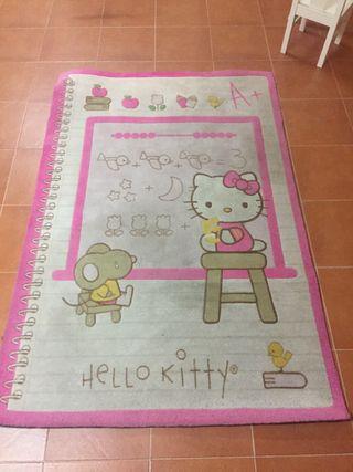 Alfombra grande hello Kitty de segunda mano por 50 € en