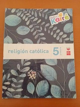 Libro de 5 (quinto) religión de SM