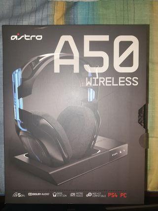 cascos gaming ASTRO A50 inalambricos para pc ps4