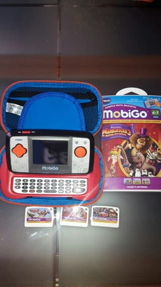 Consola portatil Vtech Mobigo y 3 juegos. Juguete.