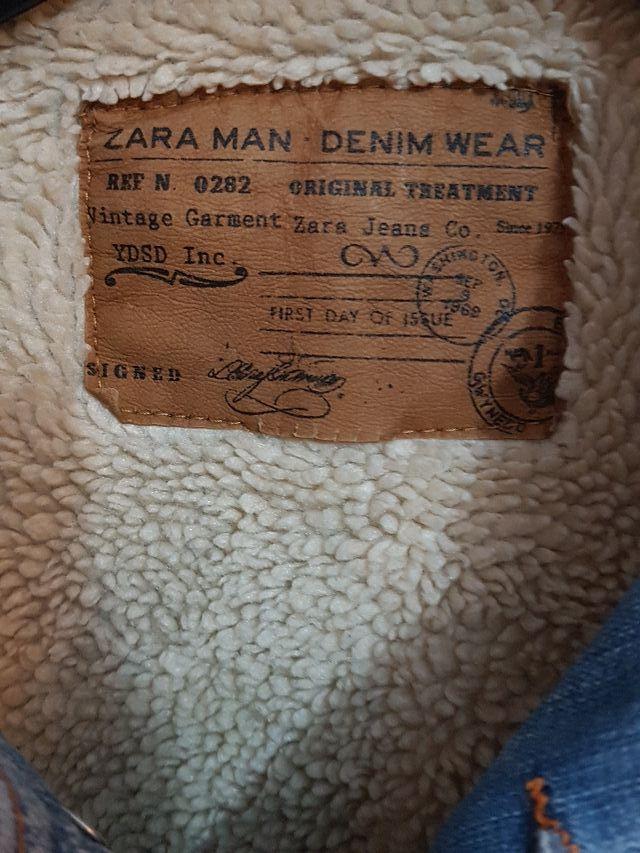 abrigo tejano zara XL