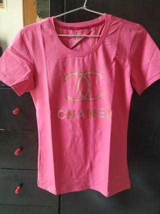 Camiseta chanel rosa