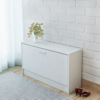 Zapatero blanco 80x24x45 cm