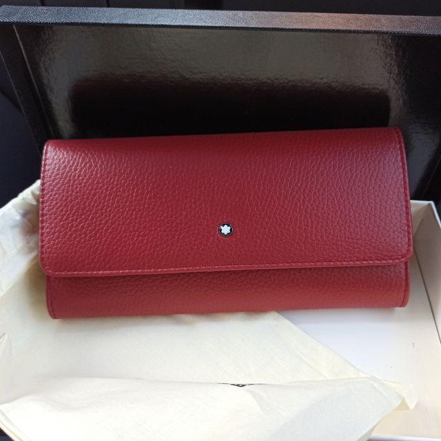 cartera roja montblanc mujer