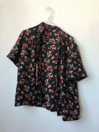 Camisa de flores vintage