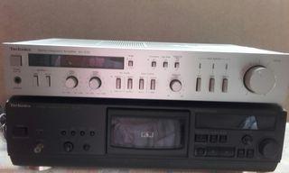 Amplificador vintage Technics. Altavoces.