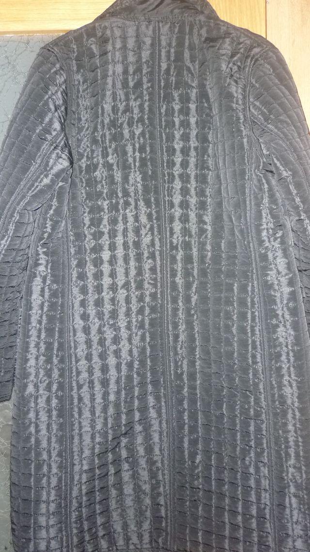 abrigo acolchado mujer negro M L
