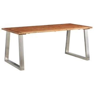 Mesa de comedor 180x90x75cm madera de acacia y ace