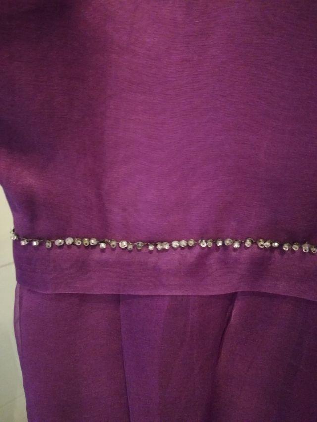 vestido morado lentejuelas