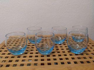 Vasos de agua cristal