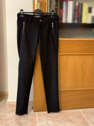 Pantalón pitillo elástico negro mujer Guess S