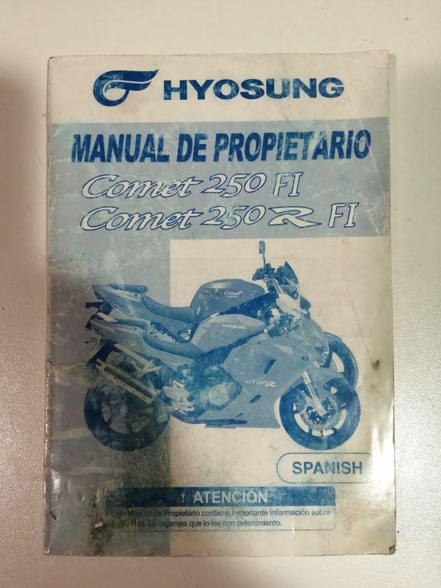 Manual de propietario hyosung gt 250 comet