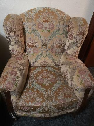 sofá y dos sillones vintage