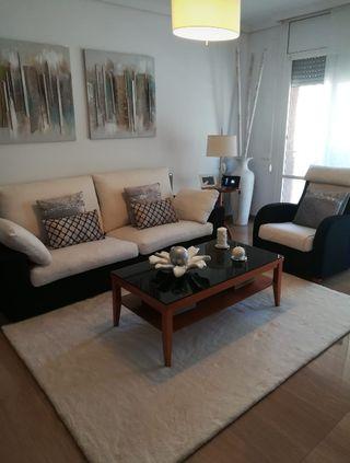 conjunto de sofá y sillón