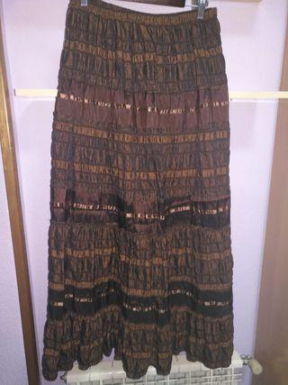 Falda marrón larga. Talla XL