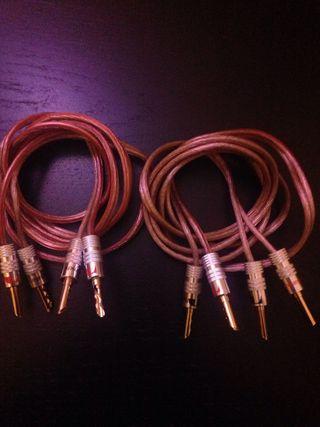 Cables altavoces banana conector