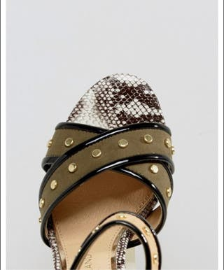 River Island Wide Fit Suede Studded Strap-size5