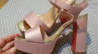 Sandalias fiesta rosa palo