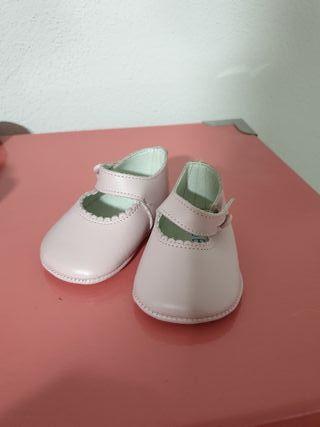 manoletina niña rosa