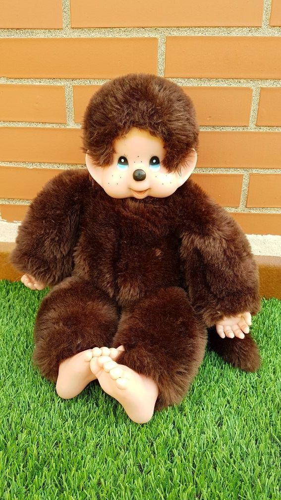 Virkiki muñeco mono peluche antiguo.