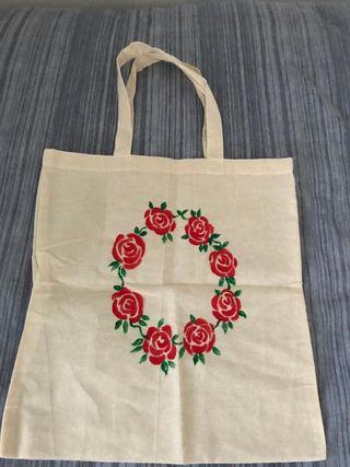 X3 reusable cotton floral bags