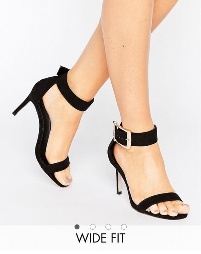 ASOS HANSON Wide Fit Heeled Sandals-size 5