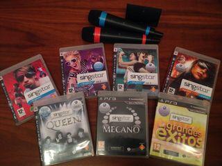 SingStar PS3 + 7 juegos