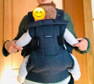 Mochila porta bebé Babybjörn. Regalo pañales.