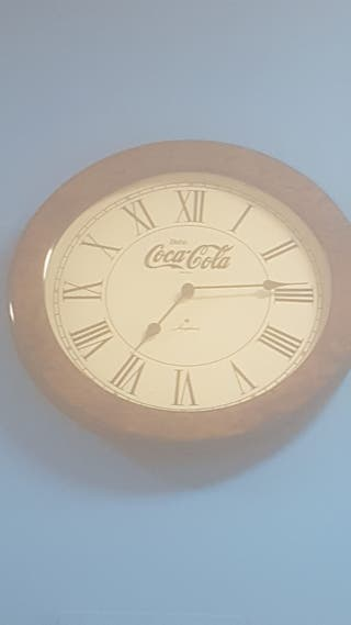 RELOJ QUARTZ PARED BEBA COCA-COLA COCACOLA MADERA