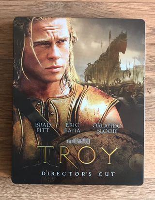 TROYA Steelbook Blu Ray Latino Inglés Francés