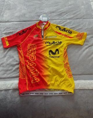 Maillot femenino selección española de ciclismo