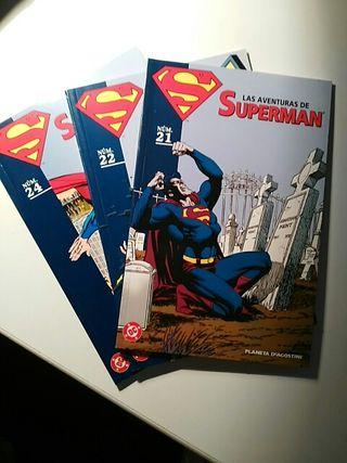 lote coleccionable Superman 21, 22 y 24