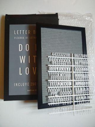 Tablero Nuevo+ set de letras