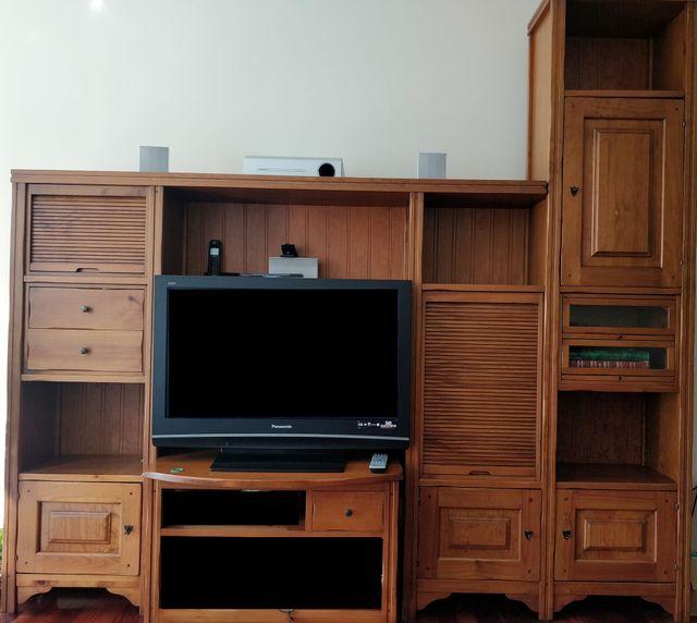 ¡URGE VENTA! Mueble de salón de madera maciza