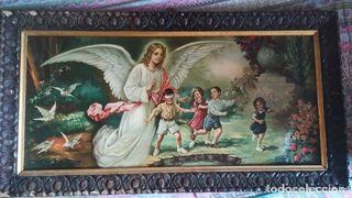 Cuadro Antiguo. AÑOS 50.Cromolitografia - ANGEL de