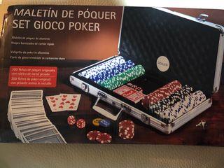 Maletín juego de póker profesional 300 fichas