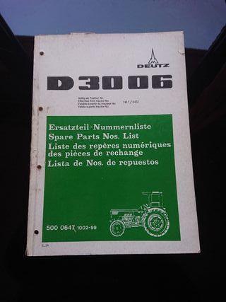 CATALOGO RECAMBIOS ORIGINAL TRACTOR DEUTZ D 3006
