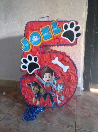 piñata número patrulla canina