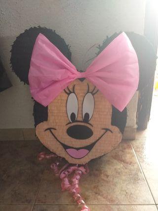 piñata cabeza minnie