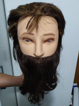 Maniquí masculino con barba con soporte incluido